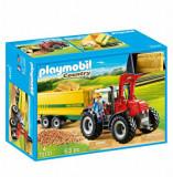 Playmobil Country, Farm Fun - Tractor cu remorca galbena