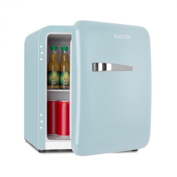 Klarstein Audrey Mini, frigider retro, 48 l, 2 niveluri, A+, albastru
