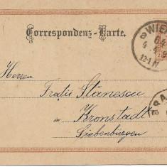 Carte postala Fratii Stanescu Brasov Campina Ploiesti comercianti 1893