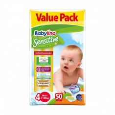 Scutece Babylino Sensitive Economy, N4, 7-18 kg, 50 Buc.