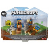 Minecraft, Craft-A-Block - Set 2 figurine Wandering Trader si Llama 8 cm, Mattel