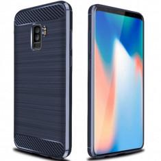 Husa SAMSUNG Galaxy S9 Plus - Luxury Carbon TSS, Bleumarin