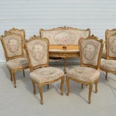 salon/salonas/canapea ,fotolii,masa,scaune Ludovic/baroc,antic/vintage,100 ani