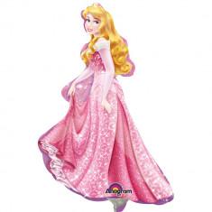 Balon mini figurina Frumoasa Adormita Disney - 23 cm, umflat + bat si rozeta, Amscan 28476