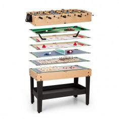 OneConcept GAME-STAR, masă de joc cu 15 jocuri, multigame, sertar pentru depozitare, mdf