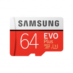 Card Memorie Evo Plus Samsung 64gb Clasa 10 Cu Adaptor Microsd