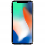 IPhone X 64GB LTE 4G Argintiu Factory Refurbished 3GB RAM, Neblocat, Apple