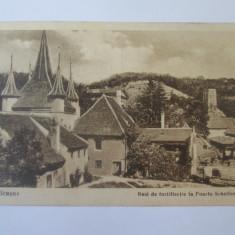 Carte postala Brașov circulata 1927, Printata, Brasov