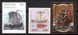 ESTONIA, LETONIA LITUANIA 1997, Corabii, Emisiune Comuna, serie neuzata, MNH, Transporturi, Nestampilat