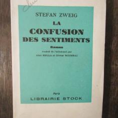 LA CONFUSION DES SENTIMENTS-STEFAN ZWEIG