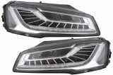 Faruri Full LED compatibil cu AUDI A8 Sedan Facelift (4H, D4) (2014-2017) Facelift Matrix Design Semnalizare Dinamica Secventiala