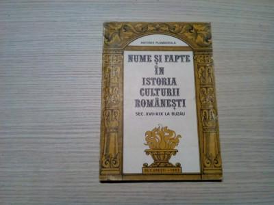 NUME SI FAPTE IN ISTORIA CULTURII ROMANESTI - Antonie Plamadeala (autograf) foto