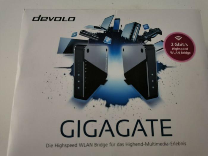 Devolo Gigagate wifi bridge extinde reteaua wireless extender 2 Gbps