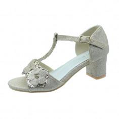 Sandale elegante cu toc fetite MRS M1506, Auriu