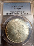 Morgan dollar 1921 pcgs ms63, America de Nord