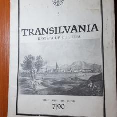 Revista transilvania nr.7/1990 sibiu-revista de cultura-interviu nicu ceausescu