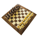 Joc de sah si table din lemn 28x28 cm