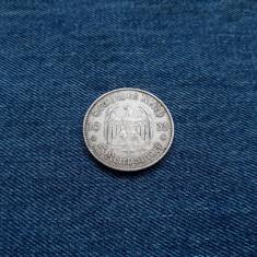 #11 Germania 5 Reichsmark 1935 a, marci germane argint WW2 mark