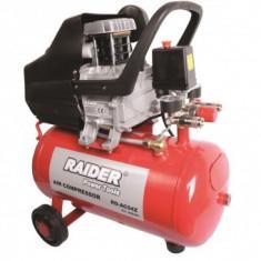 Compresor de aer cu 2 iesiri, Raider RD-AC04Z, 24 L, 1500 W, 8 Bar