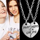 Set Pandantiv / Colier / Lantisor  - BFF Partners In Crime