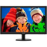 Monitor LED Philips 27, Wide, Full HD, DVI, HDMI, VGA, Negru, Boxe, 273V5LHAB