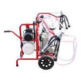 Cumpara ieftin Aparat de muls vaci 2 posturi bidon 40L inox cu butelie, vacuum rezervor Breckner Germany