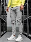 Pantaloni de trening bărbați gri Bolf CK01