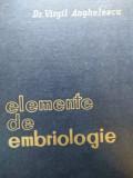 ELEMENTE DE EMBRIOLOGIE - VIRGIL ANGHELESCU