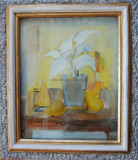 Semnătură indescifrabilă - Vază cu flori și pere