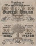 1919, 100 rubli (P-7b) - Letonia