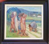 Tablou pictură J Gal, Scene gen, Ulei, Avangardism