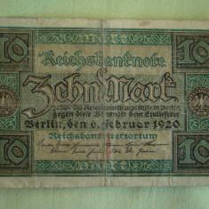 10 Mark / Marci 1920 si 20 Mark / Marci 1908 GERMANIA - Lot de 2 Bucati