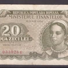 Romania 1950 - 20 lei, circulata