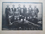 Fotografie veche, Interbelica: Banat, Sasca Montana - Grup de barbati