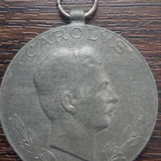 (M13) MEDALIE MILITARA AUSTROUNGARA - LAESO MILITI 1918, CAROLUS, PENTRU RANITI