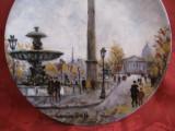 FARFURIE PORTELAN LIMOGES FRANTA LA PLACE DE LA CONCORDE BRADEX LOUIS DALI 21 CM