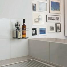Suport metalic accesorii baie cu ventuza BESTLOCK