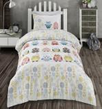 Cumpara ieftin Lenjerie de pat copii Ranforce Owl V1 Multicolor-1 pers-140 x 200 cm