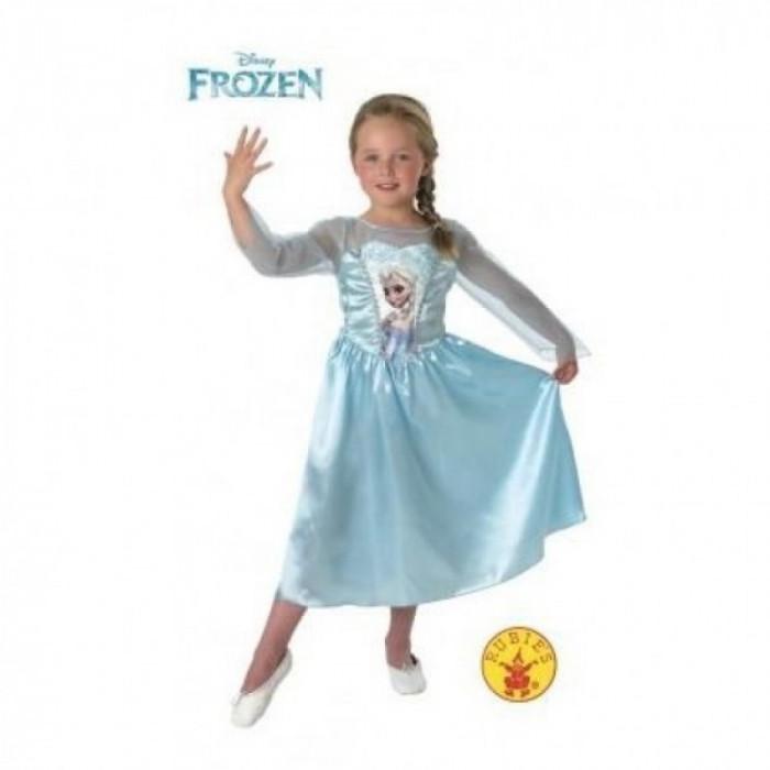 Rochita Elsa Clasic Frozen, varsta 7-8 ani, marime L, Albastru