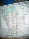 Harta mare - Judet PRAHOVA ,dim.=103x104cm RSR 1977 Inst. Geodezie si Organizare