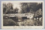 CRAIOVA - VEDERE DIN PARCUL BIBESCU , CARTE POSTALA ILUSTRATA , CIRCULATA , DATATA 1913