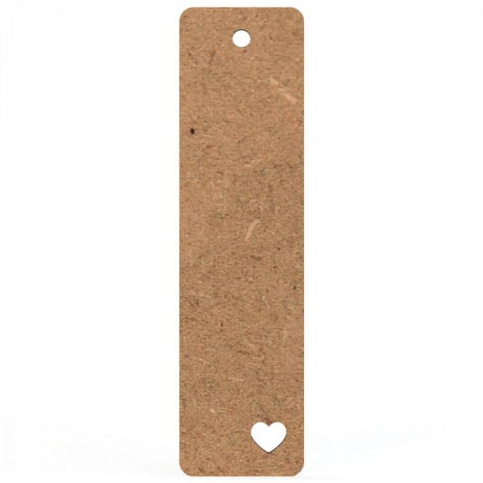 Semn Carte Blank 15x4 cm Inima Perforata Colt