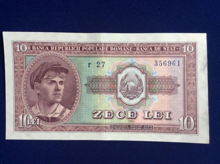 Bancnote România - 10 lei 1952 - seria r 27 356961 (starea care se vede)