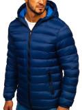 Cumpara ieftin Geacă de iarnă sport bărbați bleumarin Bolf JP1101