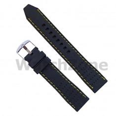 Curea ceas din silicon cu gauri 20mm WZ969