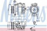 Compresor clima / aer conditionat MERCEDES C-CLASS (W203) (2000 - 2007) NISSENS 89090