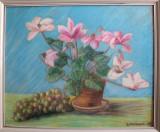 Pastel – tablou natură statică cu flori - 1968