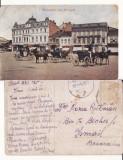 Salutari din Ploiesti (Prahova)-Piata -animata, Circulata, Printata