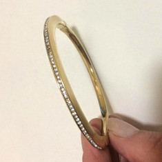 Bratara INOX dama-bijuterii- inox placat cu AUR galben 18K-STANTAT/ gravat