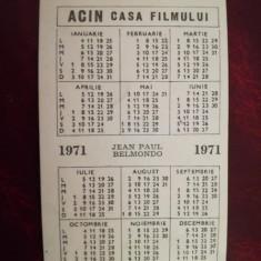 Calendar 1971 ACIN Casa Filmului, format mic, românesc
